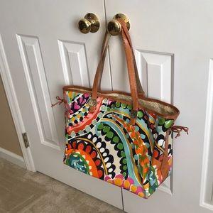 Brighton Multi-Colored Pattern Tote Handbag